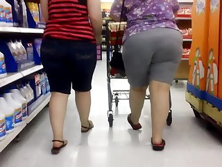 Thick Whooty Booty with BBW Wedgie Mom!