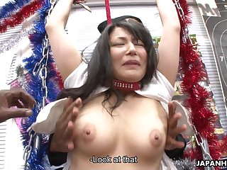 Asian whore getting freaky with the..