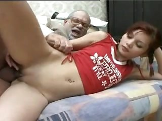 SB3 Cute Teen Gives Grandad A Load Of..