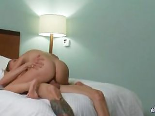 Teen slut gets slammed and gets jizzload