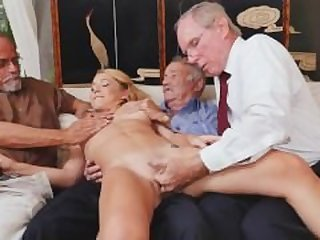 Blonde Teen Raylin Ann Taking On Three..