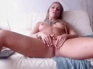 Sexy Blonde Teen Rubbing Her Pussy