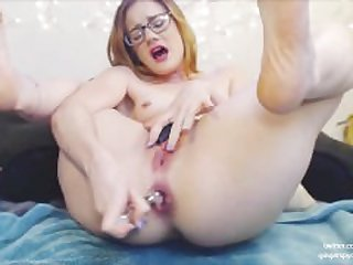 College Sorority Nerd Cums Squirt from..